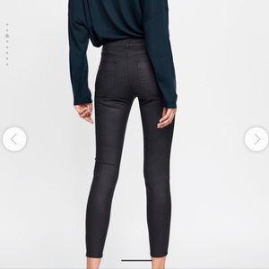 Zara waxed effect skinny jeans